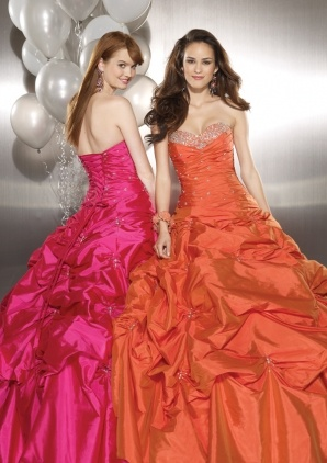 my future senior prom dress. the orange one but of course with sleeves :)