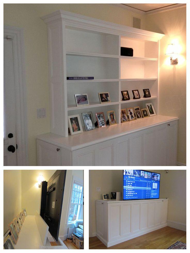 motorized tv lift cabinet diy