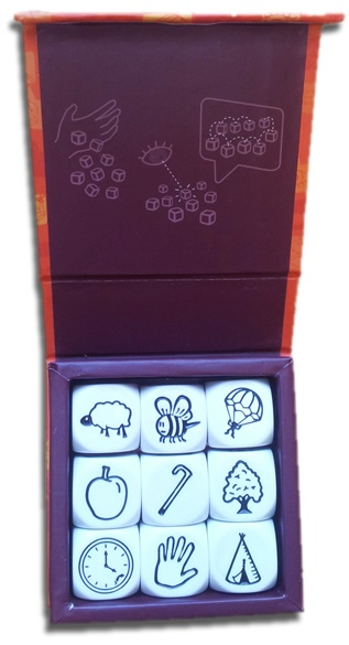 Rory's Story Cubes. Caja abierta.