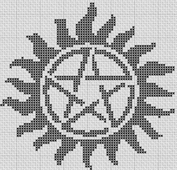 AntiPossession Symbol Cross Stitch Pattern by StitchMyHartNotToDie, $1.50