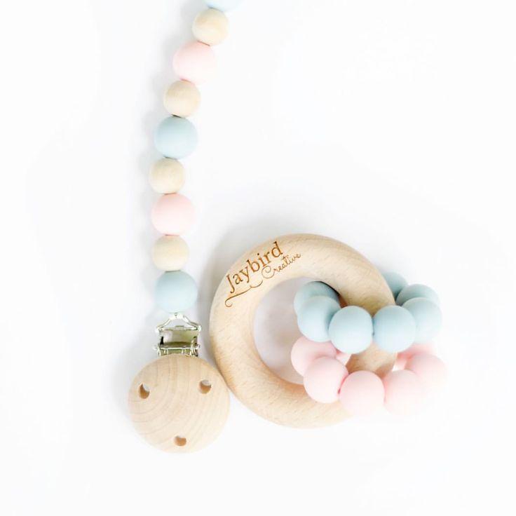 Classic Dummy Chain and Double Ring Teether - Jaybird Creative (@jaybird.creative) on Instagram