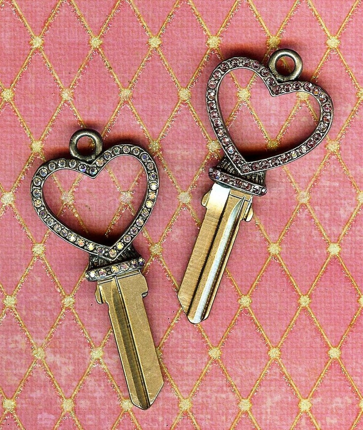 the pave open heart key blanksdelicate house key blanks inspired by