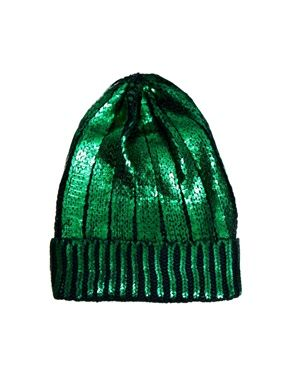 Image 2 ofASOS Foil Print Knit Beanie