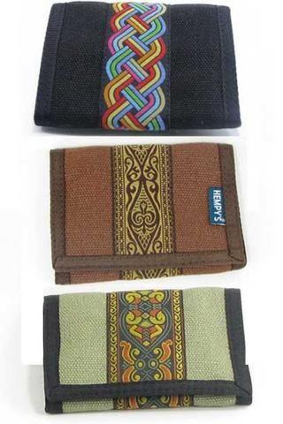 19c4da9cba6 Tri-fold hemp wallet
