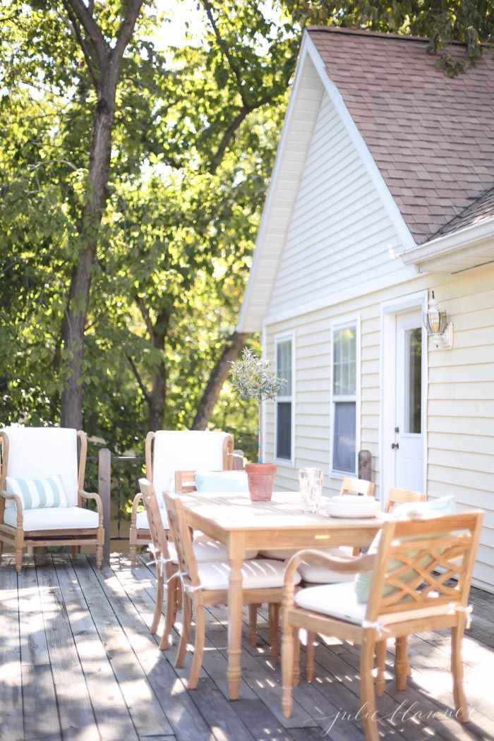 Timeless Wood Patio Furniture For The Lake Cottage