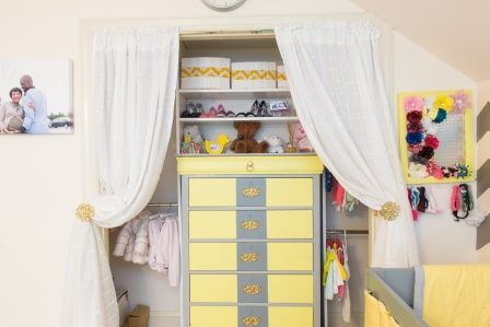 Nursery Closet - #storage #organization #nursery