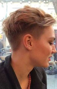 26.Half Shaved Pixie Cut                                                                                                                                                     More