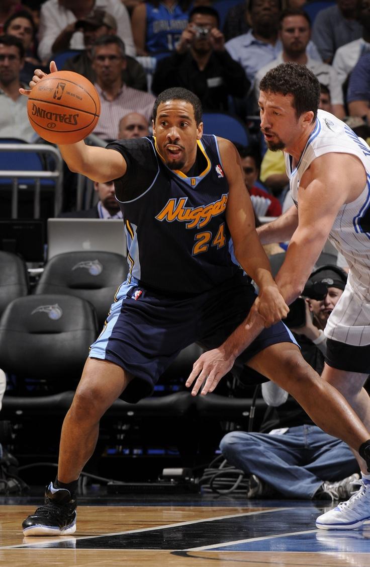 Denver Nuggets at Orlando Magic - Andre Miller. Copyright 2012 NBAE (Photo by Fernando Medina/NBAE via Getty Images) 2012 NBAE