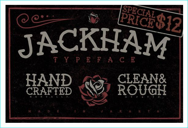 25 Popular and Attractive Slab Serif Fonts #Identity #Source: Pinterest #Description: A very old english/bar-type font. I love the way it looks like something you'd see in a bar/tattoo parlor.