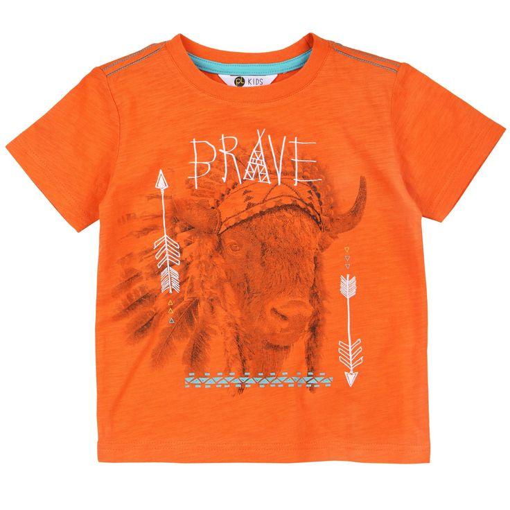 - Petit Lem Wild One Boys Brave Buffalo T-Shirt