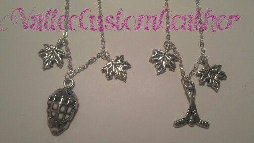 Custom necklaces by Vallee Custom Leather.   Facebook.com/ValleeCustomLeather