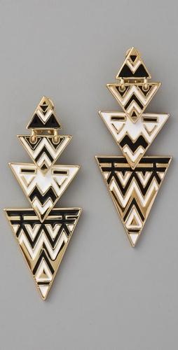 House of Harlow 1960 Tribal Drop Earrings $100