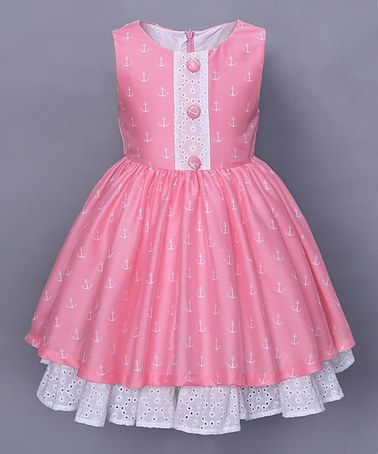 Loving this Pink Anchor Hope Dress - Infant, Toddler & Girls on #zulily! #zulilyfinds