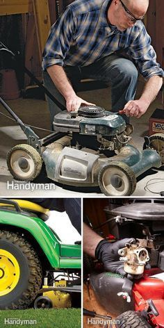 Lawn Mower Repair: Lawn mower repair is easy when you follow the our experts' how-to's and tips. http://www.familyhandyman.com/automotive/lawn-mower-repair