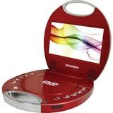 "Sylvania - 7"" Portable DVD Player - Red, SDVD7046-RED"