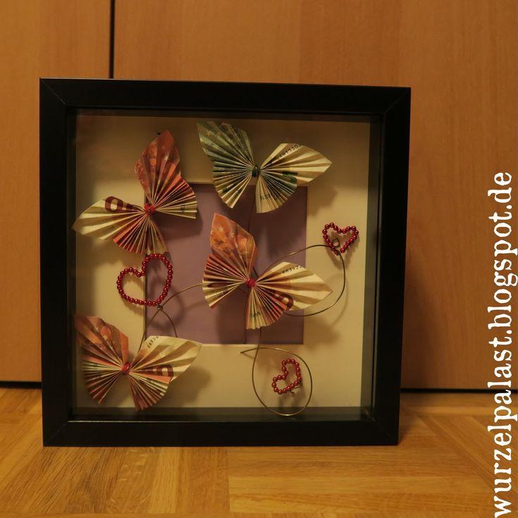 Geschenk Hochzeit Geld-Schmetterlinge