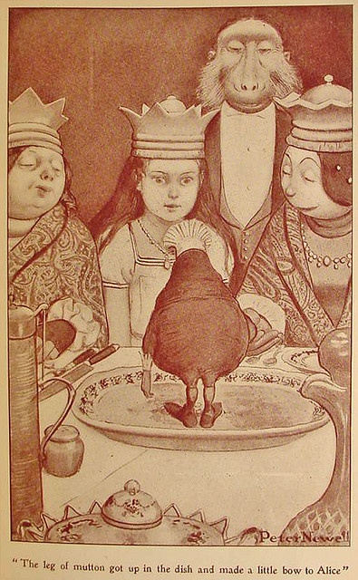 Alice through the looking glass illustrated by Peter Newell, 1902.