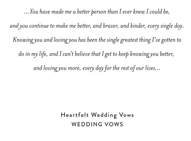 Find all your wedding vow inspiration on Snippet & Ink. Enjoy these sweet and heartfelt personalized and thoughtful wedding vows.