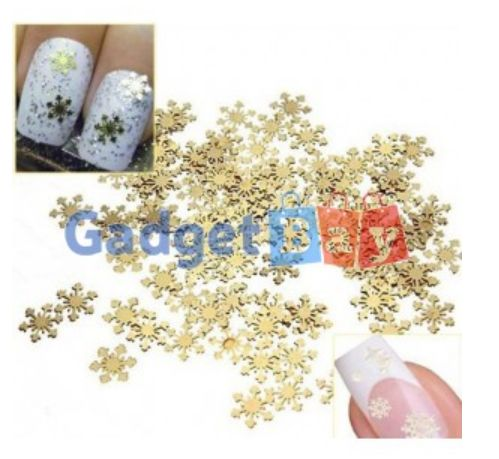 50Pcs Golden 3D Metal Sticker Decal Manicure Tool Nail Art Phone Decoration Buy it on www.gadget-bay.com Free Shipping Europe wide