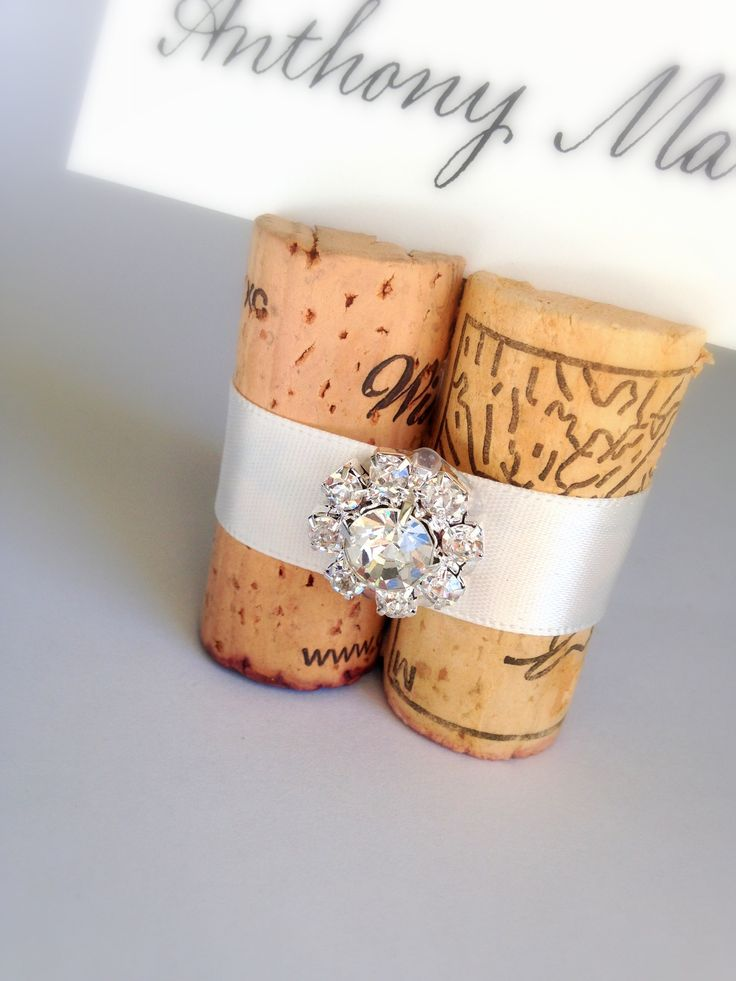 silver heart wedding place card holders%0A     best Your Wedding Place Card Table images on Pinterest   Bridal  parties  Corks and Wedding placement cards