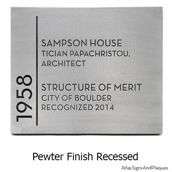 Say what you need to say on The Building Recognition Plaque. Use this custom sign to recognize the Architect, show compliance with Green Building Standards.