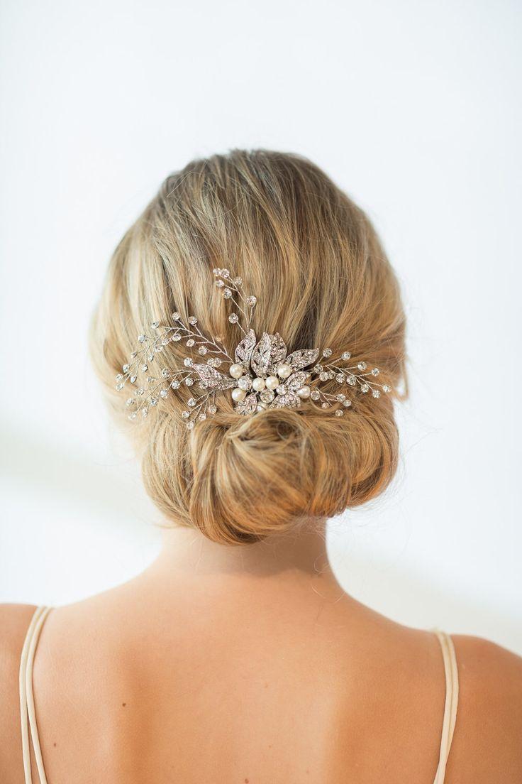 Wedding Hair Comb, Wedding Hairpiece, Crystal Bridal Comb ...
