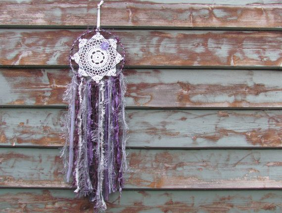 Doily Dreamcatcher Midnight Starlight...purple by doilydreaming