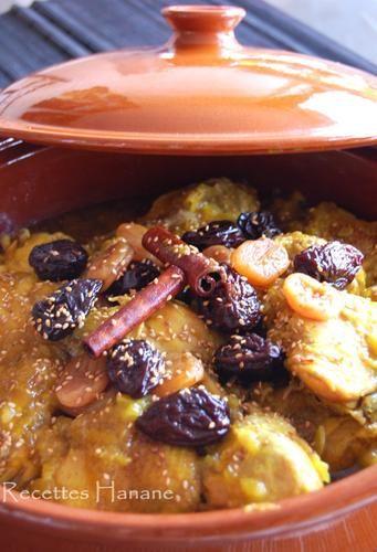 Tajine au poulet et fruits secs, à la marocaine - Recettes by Hanane
