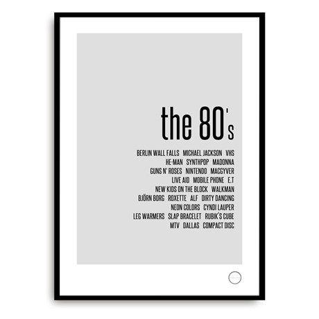 Minns 80-talet med denna snygga affisch!