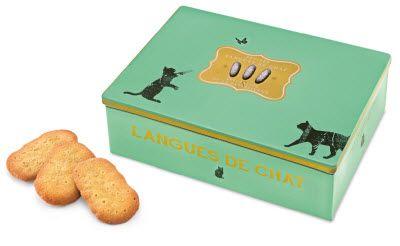 Langues de chat aux pépites d'orange, 160g - Läckerli Huus AG