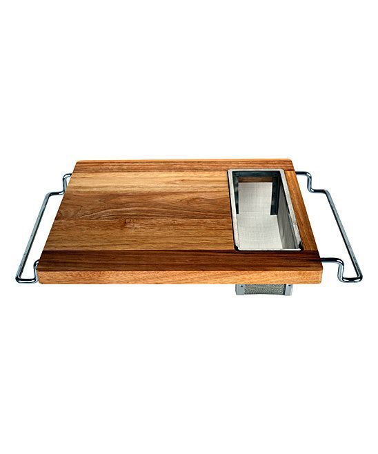 Handy Gourmet Over Sink Cutting Board; Slide Out Side Handles;