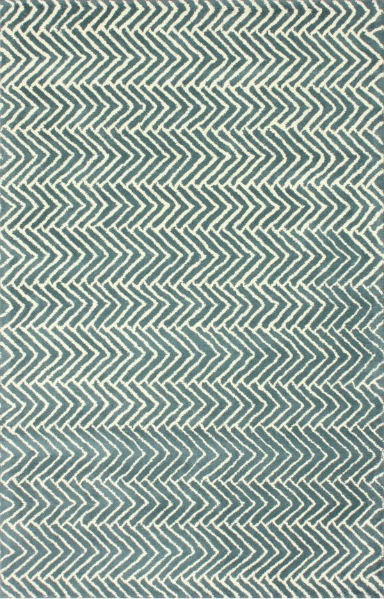 Satara Insignia Chevron Teal Rug | Contemporary Rugs