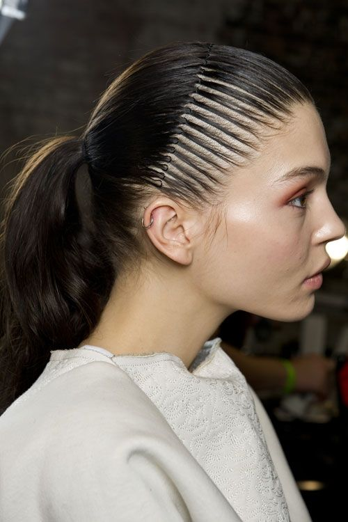 #NYFW Fall 2014 ponytails