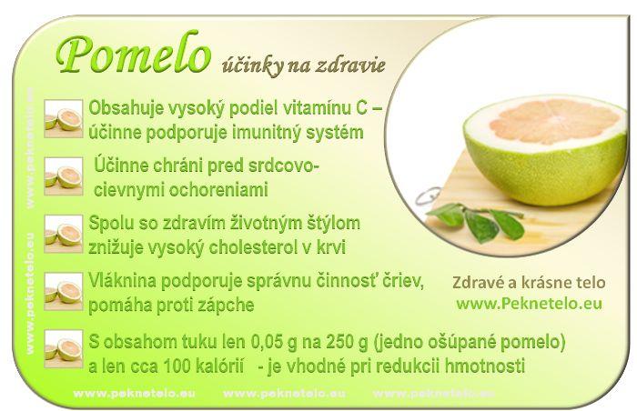 Pomelo - účinky na zdravie a chudnutie