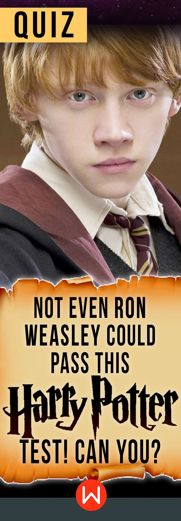 Are you smarter than Ron Weasley? HP trivia test. Are you a certified Potterhead? Do you think your knowledge about Harry Potter is totally above average? Let's see if you know more about Harry Potter than Ron Weasley. HP Challenge. Harry Potter trivia questions. Are you ready? JK Rowling.