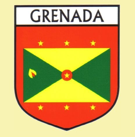 For Everything Genealogy - Grenada Flag Country Flag Grenada Decals Stickers Set of 3, $15.00 (http://www.foreverythinggenealogy.com.au/grenada-flag-country-flag-grenada-decals-stickers-set-of-3/)