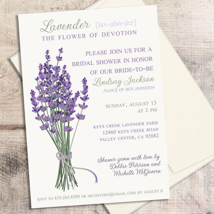 Printable Lavender Wedding Invitations Printable Lavender Invitation For Bridal Lavender Wedding Invitations Bridal Shower Rustic Floral Wedding Invitations