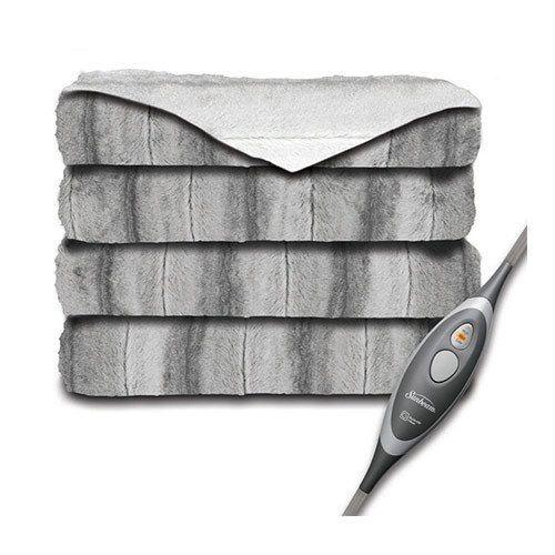 Sunbeam Faux Fur Ultra-Soft Oversized Heated Electric Throw Blanket - Grey/White | Home & Garden, Bedding, Blankets & Throws | eBay!