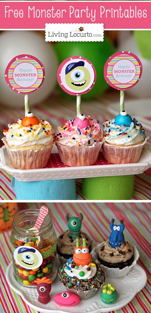 Monster University Birthday Party Ideas with Free Party Printables by Amy Locurto. LivingLocurto.com #freeprintables #monstersU