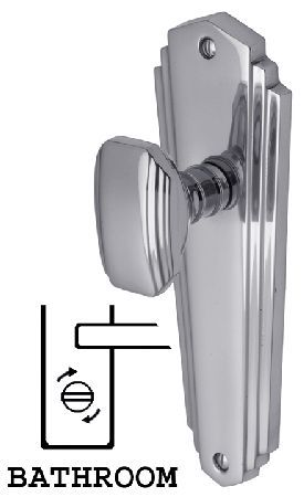 M.Marcus Heritage CHA1930 Charlston Chrome Mortice Knob Polished chrome Charlston contemporary mortice knob on bathroom plate door furniture. Outside measurements are 200x65mm and the backplates have a snib or release on either side connected by a 5mm spin http://www.MightGet.com/january-2017-12/m-marcus-heritage-cha1930-charlston-chrome-mortice-knob.asp