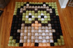 Great examples of pillow quilts, bubble quilts