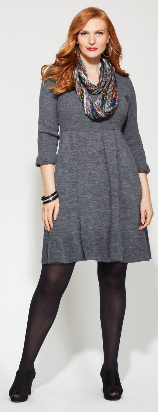 plus size Ruffle Hem Sweater Dress: beautiful short length winter dress, grey in color made out of soft woolen fabric for winters. It is a perfect plus size winter wear for multi-purpose and can be paired up with a pair… Continue Reading →