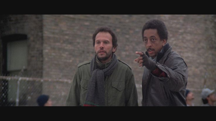 Billy Crystal and Gregory Hines in Running Scared (1986) http://www.movpins.com/dHQwMDkxODc1/running-scared-(1986)/still-276182528