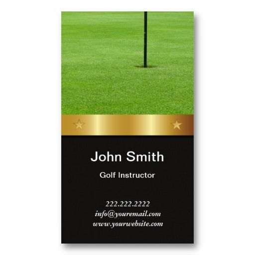 16 best golf instructor business cards images on pinterest gold belt golf instructor business card colourmoves