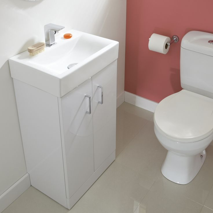 450mm Floor Standing Gloss White Vanity Unit   Image 4. 1000  images about cloakroom units etc on Pinterest   Vanities