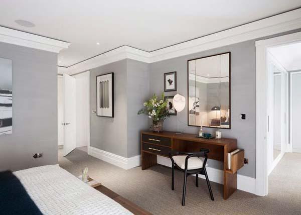 Paredes grises para dar calidez a las casas  apartamento