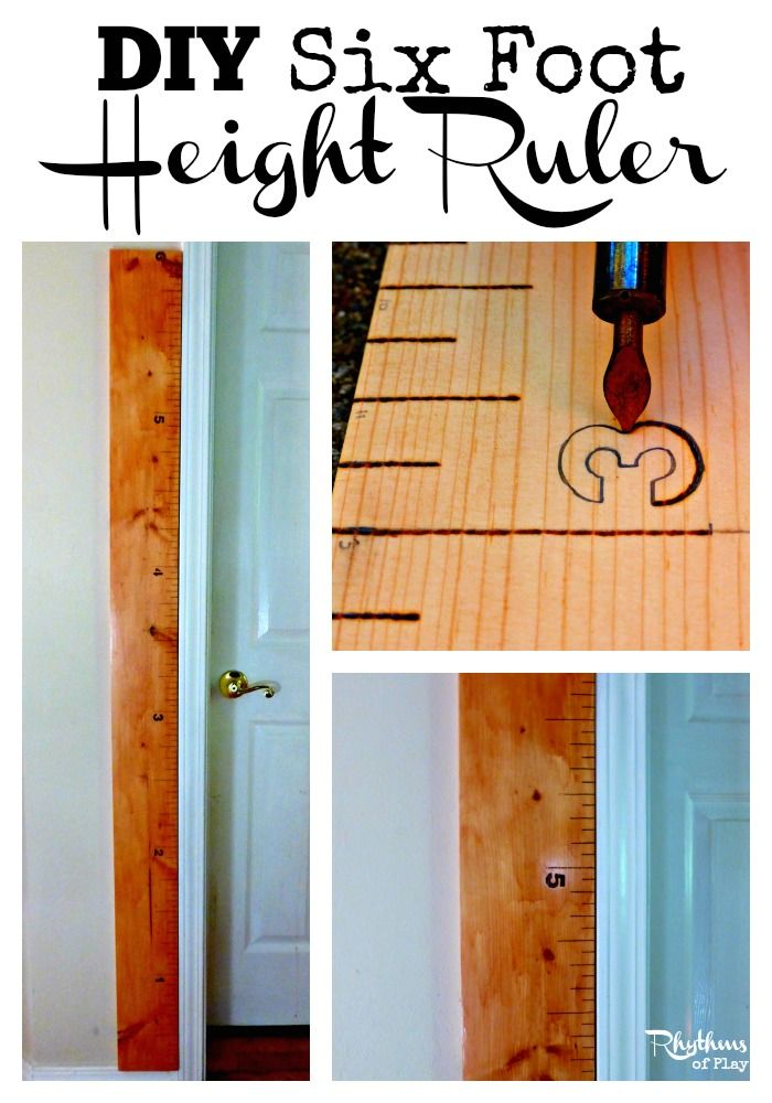 DIY 6 Foot Ruler -- Great for tracking your kids' heights!