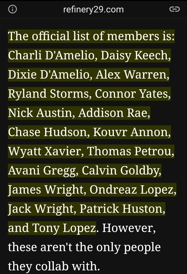 Hype House Members Refinery29 Com People Names House Names Names