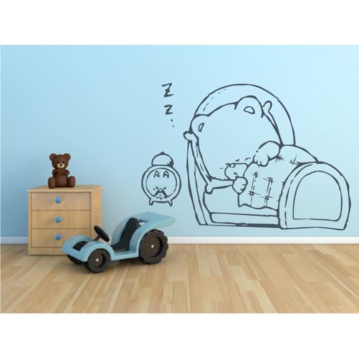 oso dormiln vinilo infantil