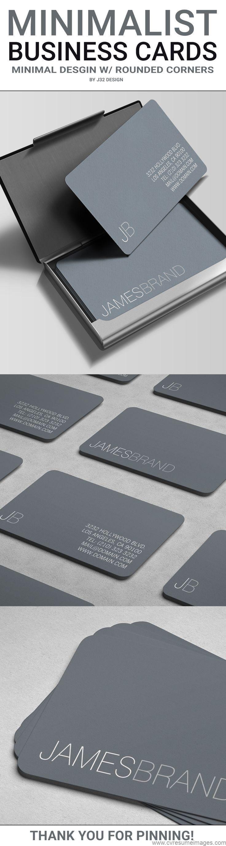 Tarjeta de visita minimalista elegante   – design